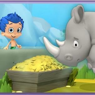 Гуппи и пузырики Одинокий носорог ищет друзей