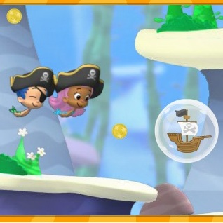 Гуппи и пузырьки пиратские сокровища