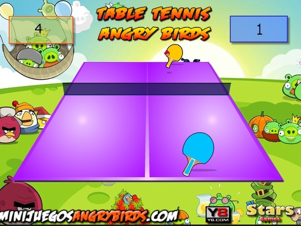 Злые птицы настольный тенис