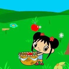 Хохо и Кай-Лан собирают яблоки