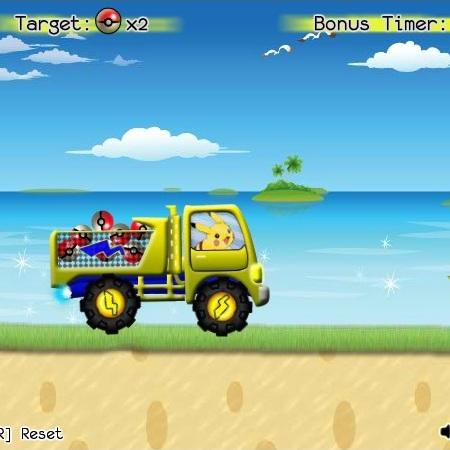 Покемон Пикачу на грузовике - Покемон