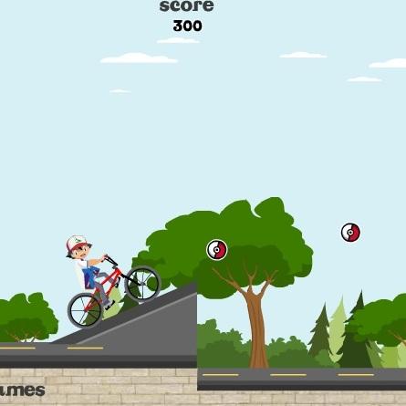 Покемон Эш велосепедист