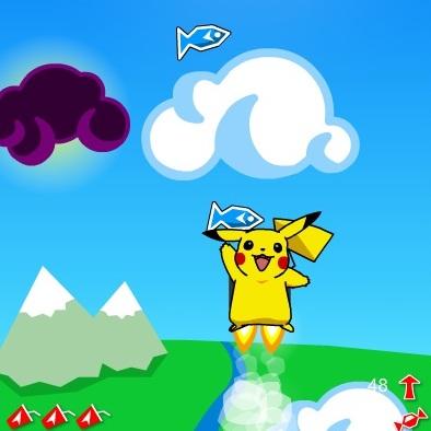 Покемон прыжки в небо