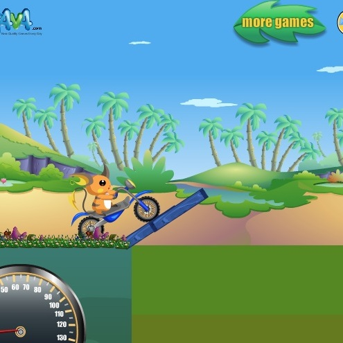Покемон на мотоцикле
