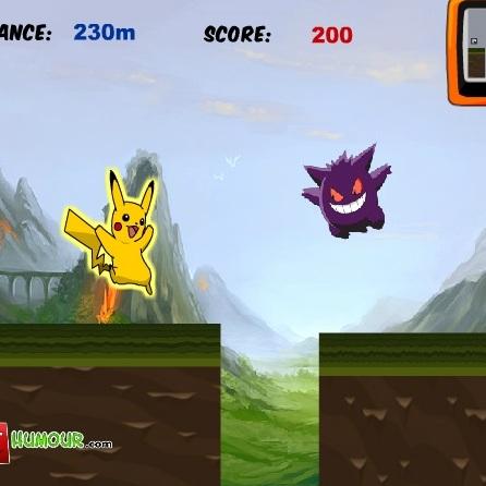 Покемон беги и прыгай