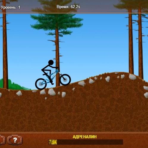 Человек из палочки велобайкер