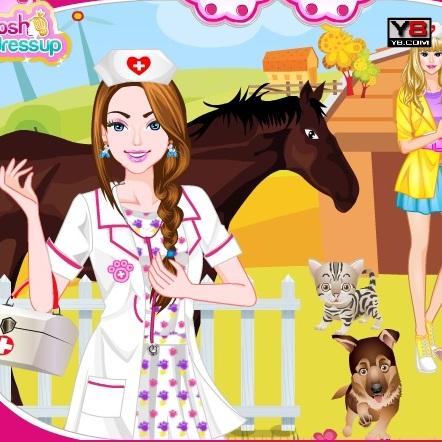 Макияж для Барби ветеринара - Барби
