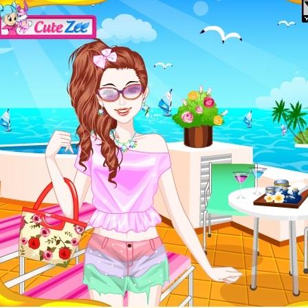 Пляжный макияж Барби