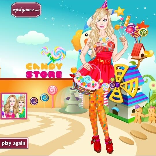 Барби любительница сладостей