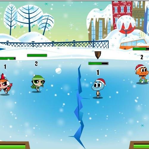 Гамбол сражение снежками