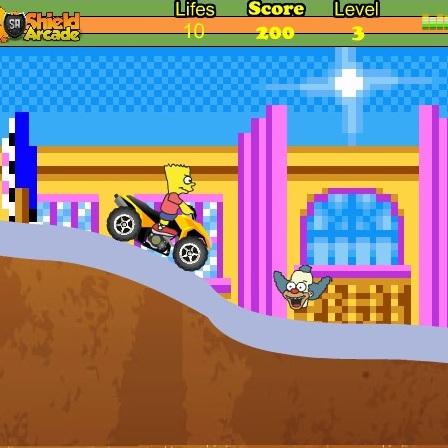 Барт Симпсон на квадроцикле