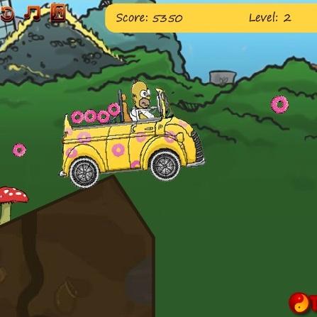 Симпсоны Гомер собирает пончики