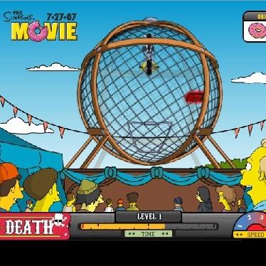 Симпсоны аттракцион шар смерти