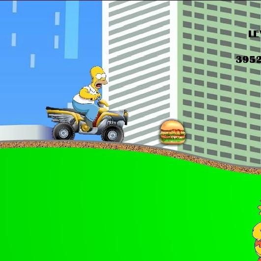 Симпсоны Гомер на квадроцикле