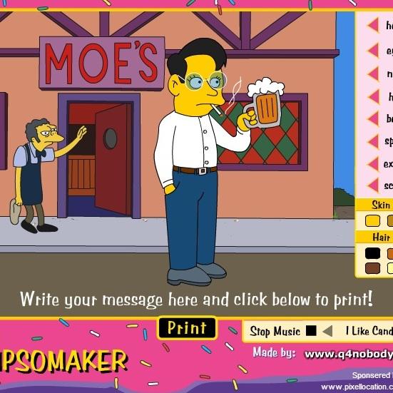 Создай сам образ Симпсона