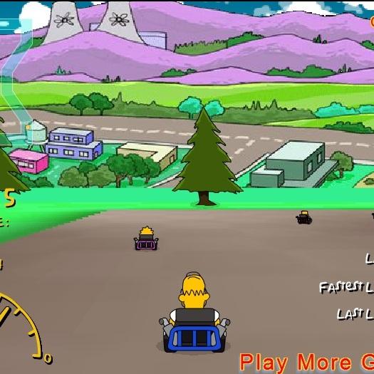 Симпсоны гонки на картах