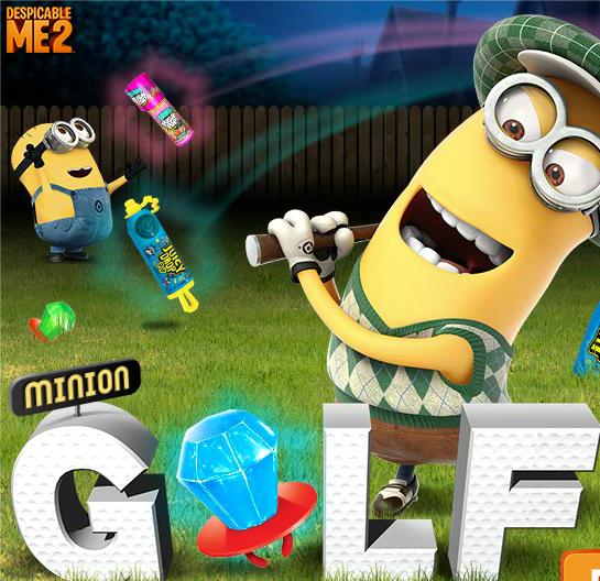 Миньон играет в гольф