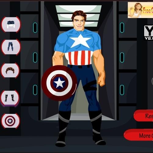 Капитан Америка одевается
