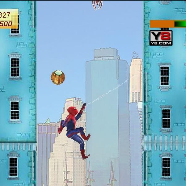 Человек-паук взбирается по стенам
