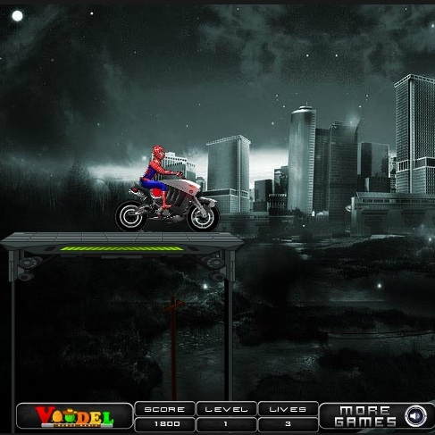 Человек-паук супер байкер