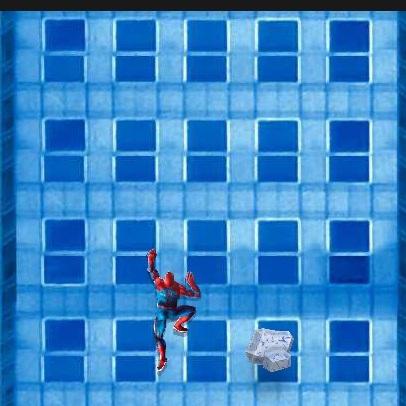 Человек-паук лезет по стене
