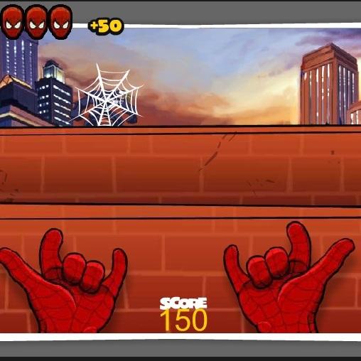 Человек-паук стрелок паутиной