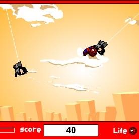 Человек-паук полет на паутине