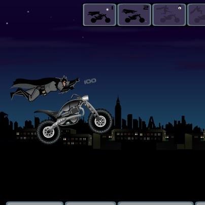 Бэтмен трюки на мотоцикле