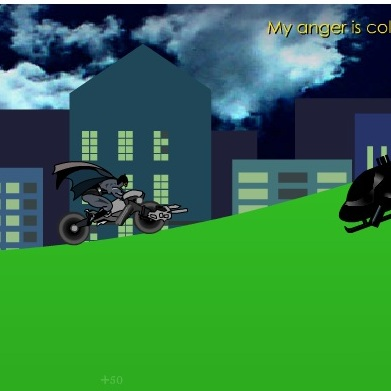Бэтмен стрельба с мотоцикла