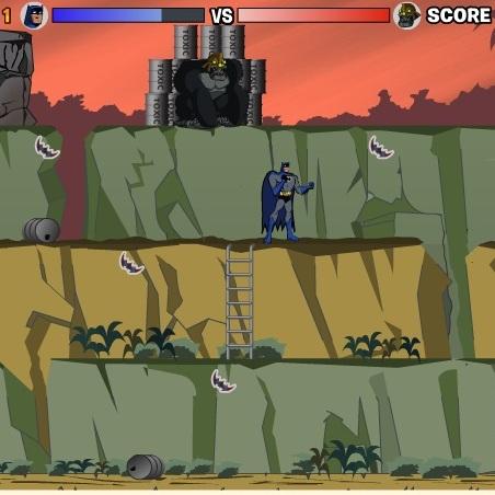 Бэтмен борьба с горилой