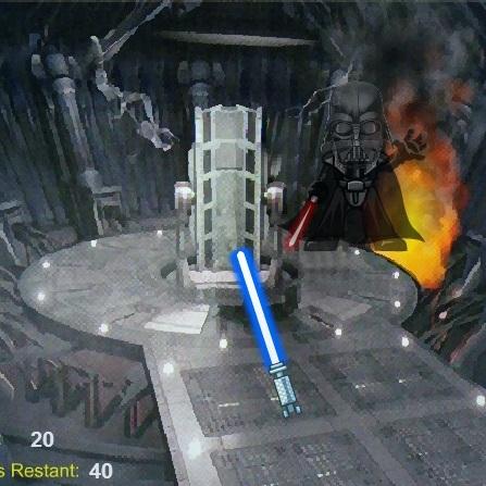 Звёздные Войны тренировка лазерным мечом