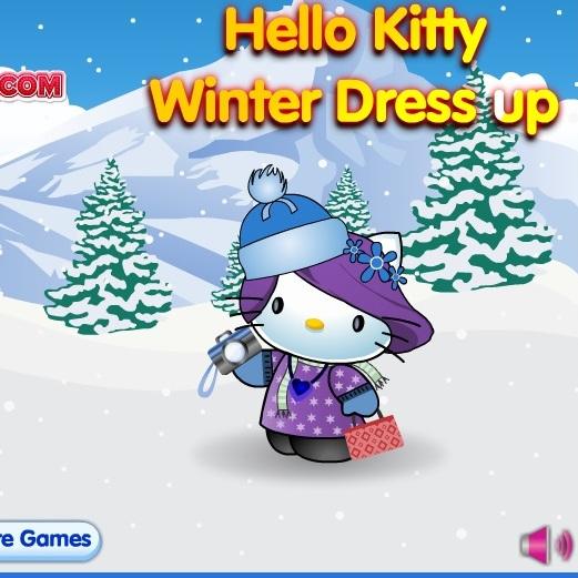 Хелло Китти зимний наряд