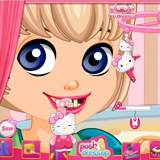 Хелло Китти лечим зубы