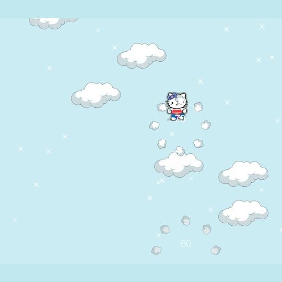Хелло Китти прыжки в облака