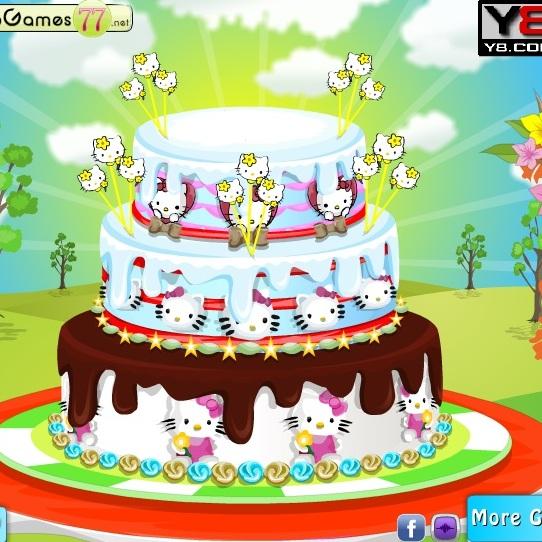 Украшение торта Хелло Китти