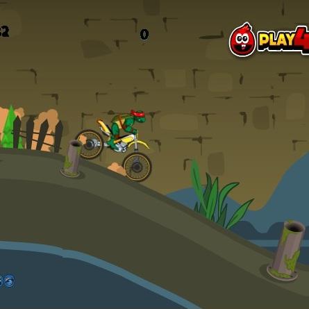 Черепашки ниндзя на мотоцикле - Черепашки ниндзя