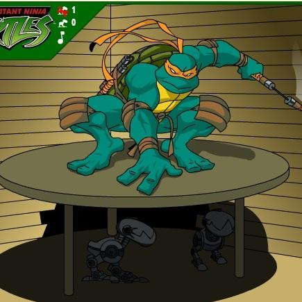 Черепашки ниндзя разбей роботов