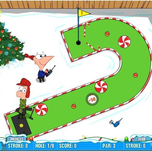 Финис и Ферб зимний гольф