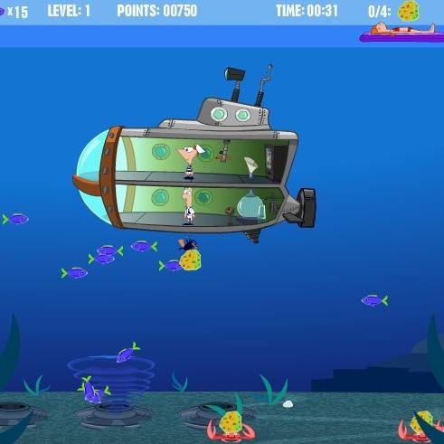 Фенис и Ферб подводная лодка