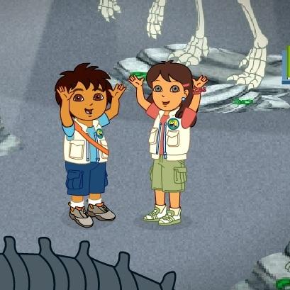 Диего и Алиса в стране динозавров