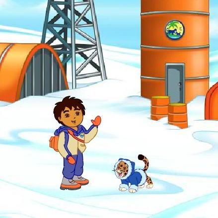 Диего спасает животных в Арктике