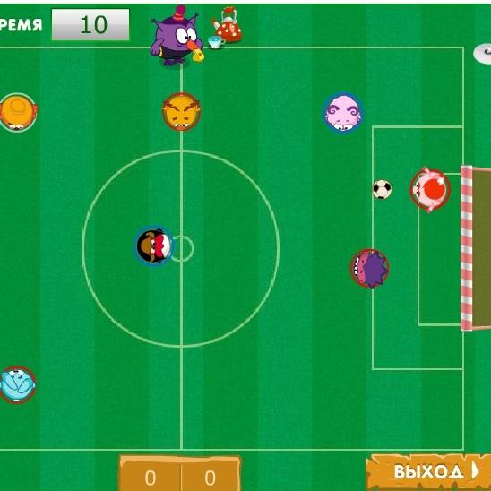 Футбольный матч Смешариков