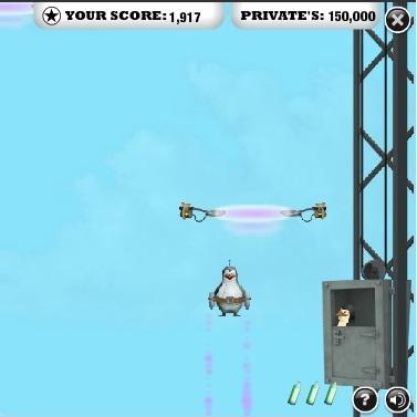 Пингвины Мадагаскара полёт в небо