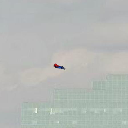СуперМен в полёте - СуперМен