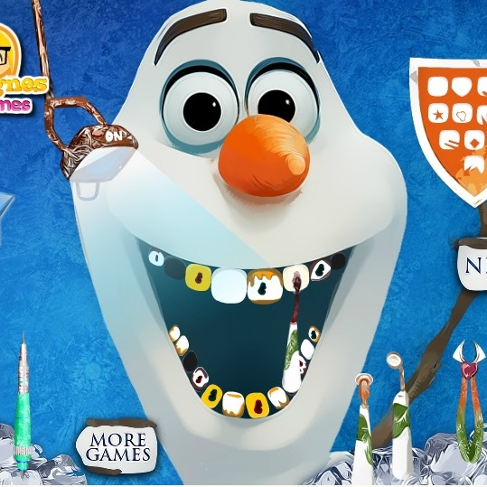 Холодное Сердце Олаф у дантиста