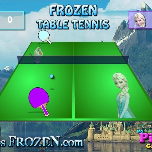 Холодное Сердце настольный тенис