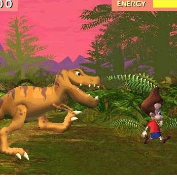 Джимми Нейтрон убеги от динозавра