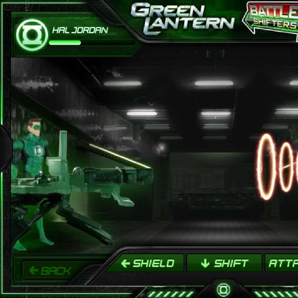 Зелёный Фонарь битва с пришельцем