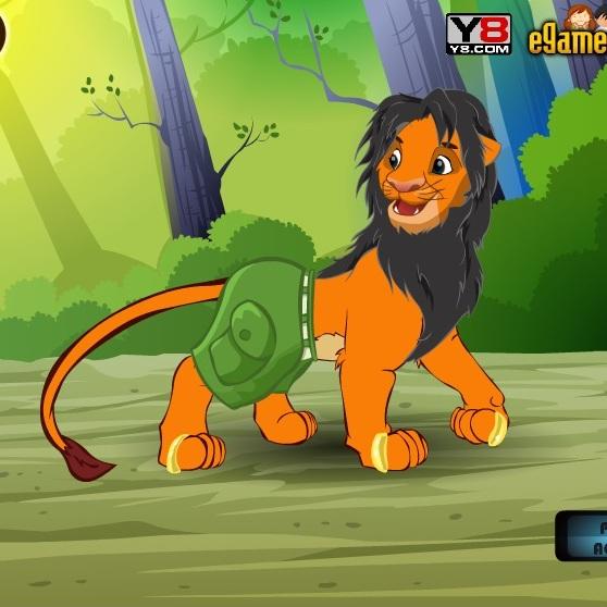 Король Лев Симба одевается