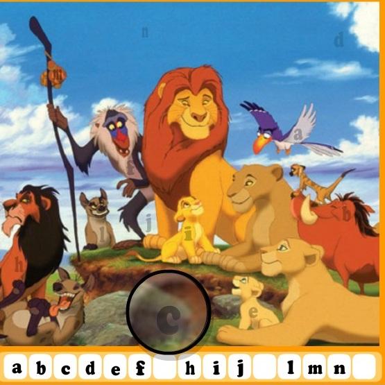 Король Лев скрытый алфавит